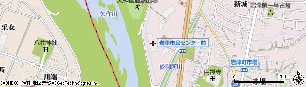 愛知県岡崎市岩津町(川畔)周辺の地図