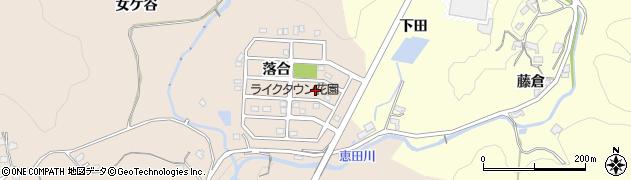 愛知県岡崎市真福寺町(落合)周辺の地図