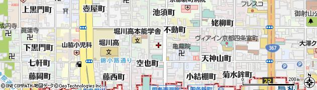 京都府京都市中京区古西町周辺の地図