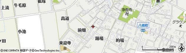 愛知県知立市八橋町(前畑)周辺の地図