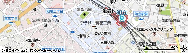 愛知県知立市池端周辺の地図