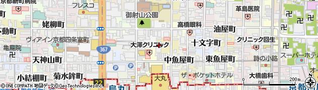京都府京都市中京区貝屋町周辺の地図