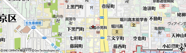 京都府京都市中京区宮本町周辺の地図