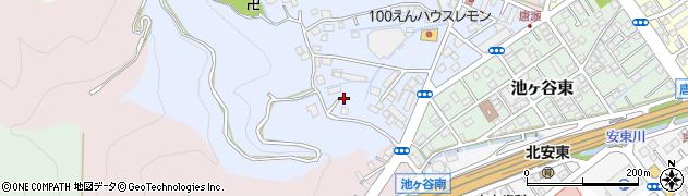 静岡県静岡市葵区池ヶ谷周辺の地図