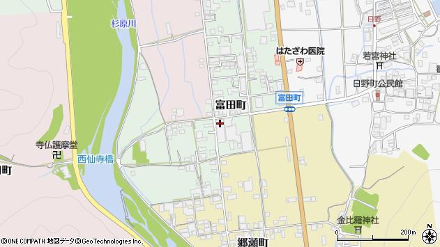 〒677-0018 兵庫県西脇市富田町の地図