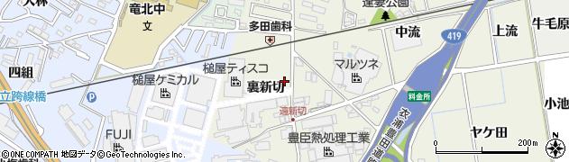 愛知県知立市牛田町(裏新切)周辺の地図