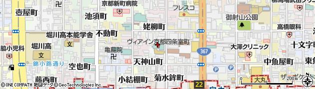 京都府京都市中京区山伏山町周辺の地図