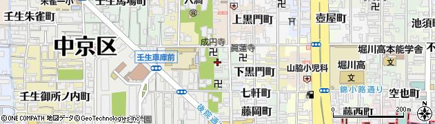 京都府京都市中京区四坊大宮町周辺の地図