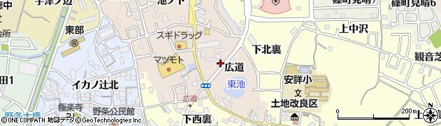 京都府亀岡市篠町馬堀(広道)周辺の地図