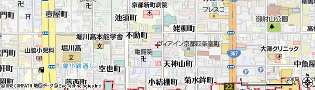 京都府京都市中京区百足屋町周辺の地図