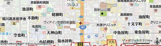 京都府京都市中京区手洗水町周辺の地図