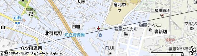 愛知県知立市山町(茶碓山)周辺の地図