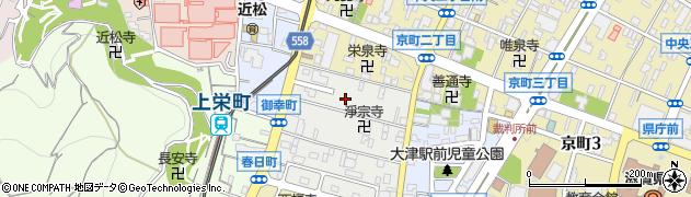 滋賀県大津市御幸町周辺の地図