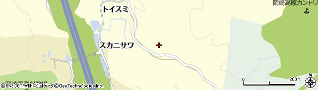 愛知県岡崎市駒立町(スカニサワ)周辺の地図