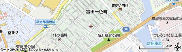 三重県四日市市富田一色町周辺の地図