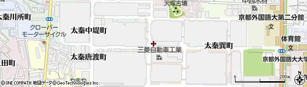 京都府京都市右京区太秦東唐渡町周辺の地図