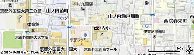 京都府京都市右京区山ノ内山ノ下町周辺の地図
