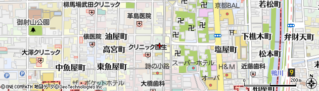 京都府京都市中京区円福寺前町周辺の地図