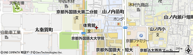 京都府京都市右京区山ノ内苗町周辺の地図
