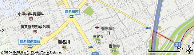 静岡県静岡市葵区瀬名川周辺の地図