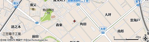 愛知県東海市高横須賀町(角田)周辺の地図