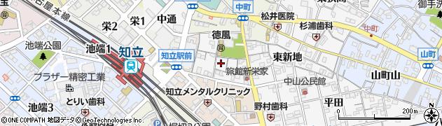 愛知県知立市新地町(西新地)周辺の地図