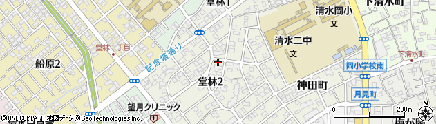 静岡県静岡市清水区堂林周辺の地図
