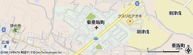 三重県四日市市東垂坂町周辺の地図