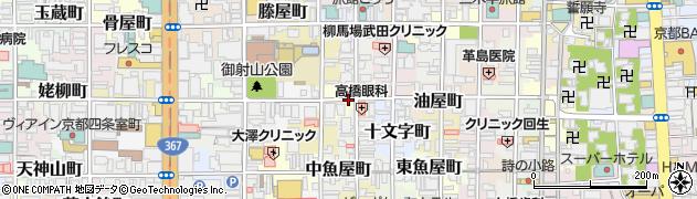 京都府京都市中京区雁金町周辺の地図