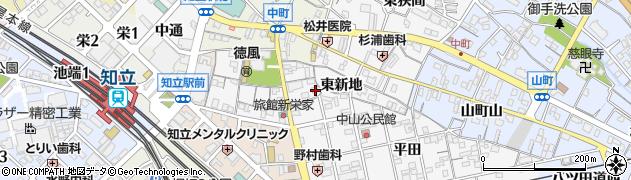 愛知県知立市新地町(東新地)周辺の地図