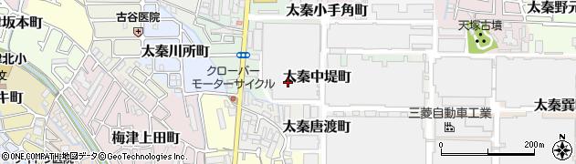 京都府京都市右京区太秦中堤町周辺の地図
