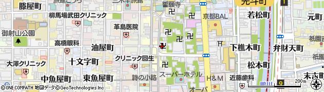 蛸薬師堂周辺の地図