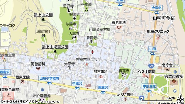 〒671-2577 兵庫県宍粟市山崎町山崎の地図
