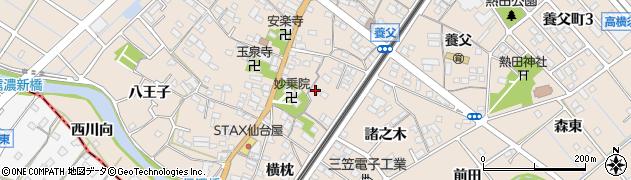 愛知県東海市養父町(里中)周辺の地図