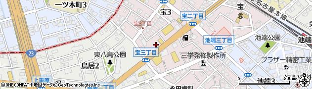 魚魚丸知立店周辺の地図
