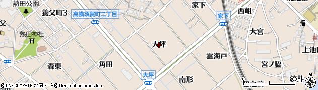 愛知県東海市高横須賀町(大坪)周辺の地図