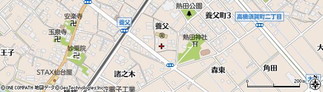 愛知県東海市養父町(大木之本)周辺の地図