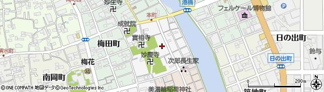 静岡県静岡市清水区清水町周辺の地図