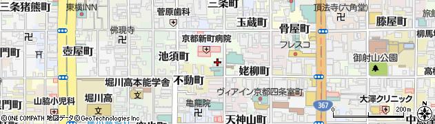 京都府京都市中京区六角町周辺の地図