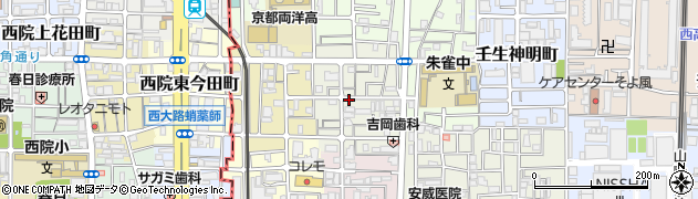 京都府京都市中京区壬生東大竹町周辺の地図