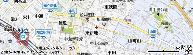 愛知県知立市中山町(中山)周辺の地図