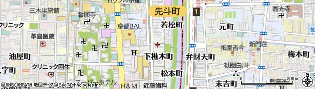 京都府京都市中京区下樵木町周辺の地図