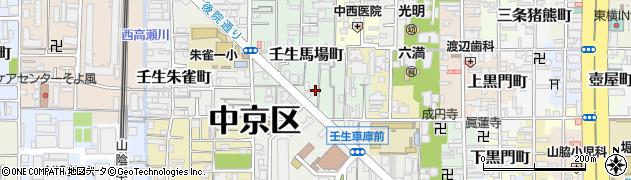 京都府京都市中京区壬生馬場町周辺の地図