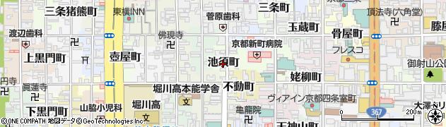 京都府京都市中京区池須町周辺の地図