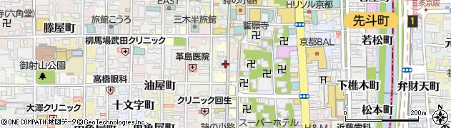 京都府京都市中京区式部町周辺の地図