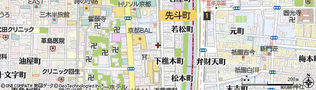 京都府京都市中京区南車屋町周辺の地図