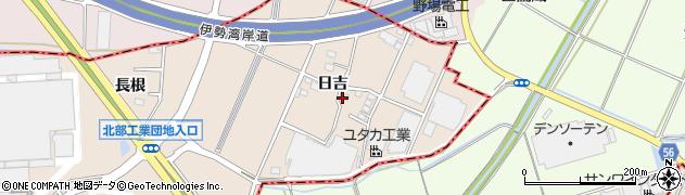 愛知県安城市里町(日吉)周辺の地図