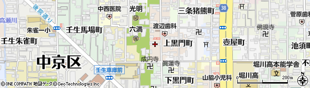 京都府京都市中京区六角大宮町周辺の地図