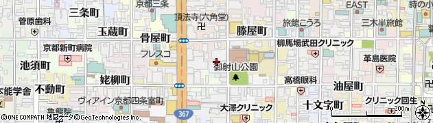 京都府京都市中京区御射山町周辺の地図