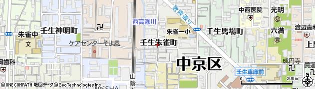 京都府京都市中京区壬生朱雀町周辺の地図